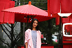 """September 27, 2019, Tokyo, Japan - Japanese model Koki smiles as she attends a press preview of French fashion brand Chanel's cosmetics promotional event """"Chanel Matsuri"""" (Chanel festival) at the Tenso shrine in Tokyo on Thursday, September 27, 2018. 15-year-old Koki, a daughter of Japanese actor Takuya Kimura and singer Shizuka Kudo became Chanel's beauty ambassador this month.   (Photo by Yoshio Tsunoda/AFLO) LWX -ytd-"""