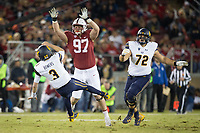 STANFORD, CA - November 18, 2017: Dylan Jackson at Stanford Stadium. The Stanford Cardinal defeated Cal 17-14 to win its eighth straight Big Game.