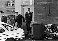 Pix: Copyright Anglia Press Agency/Archived via SWpix.com. The Bamber Killings. August 1985. Murders of Neville and June Bamber, daughter Sheila Caffell and her twin boys. Jeremy Bamber convicted of killings serving life...copyright photograph>>Anglia Press Agency>>07811 267 706>>..Jeremy Bamber leaves Maldon Magistrate's Court. no date..ref 0001 neg 10...