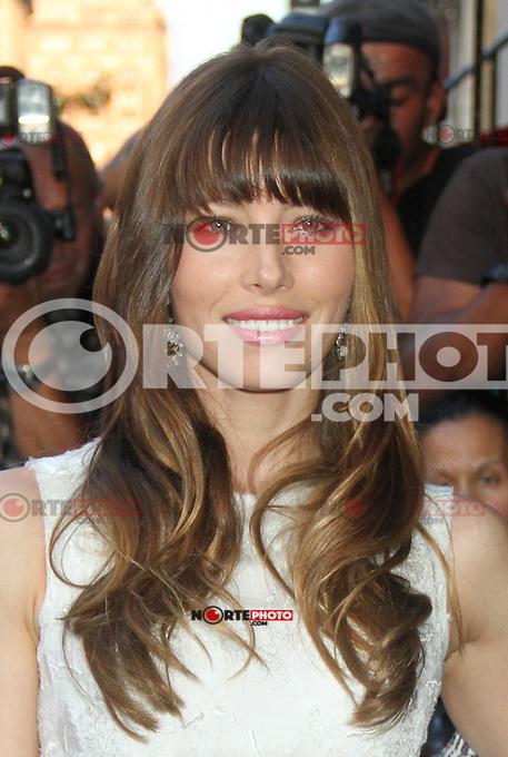 NEW YORK CITY, NY - August 02, 2012: Jessica Biel at the screening of Columbia Pictures Total Recall at the Chelsea Clearview Cinema in New York City. &copy; RW/MediaPunch Inc. /NortePhoto.com<br /> <br /> **SOLO*VENTA*EN*MEXICO**<br /> **CREDITO*OBLIGATORIO** <br /> *No*Venta*A*Terceros*<br /> *No*Sale*So*third*<br /> *** No Se Permite Hacer Archivo**<br /> *No*Sale*So*third*