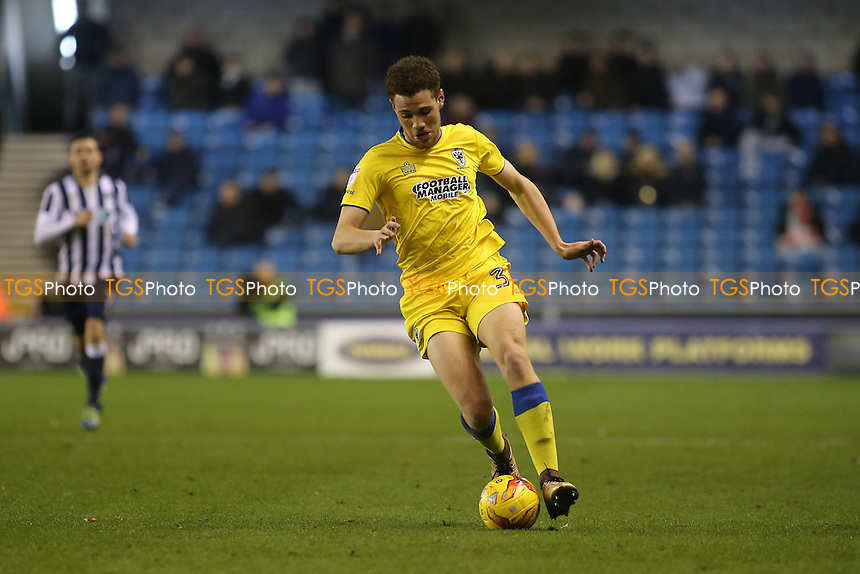 Seth Owens of AFC Wimbledon in action during Millwall vs AFC Wimbledon, Sky Bet EFL League 1 Football at The Den on 22nd November 2016
