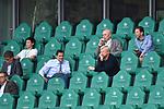 """auf der Tribuene, <br /> v.l. <br /> Christian SEIFERT, DFL, <br /> Oliver """" Oli """" KAHN (Vorstandsmitglied, M)<br /> <br /> Sport: Fussball: 1. Bundesliga: Saison 19/20: 34.Spieltag, <br /> VFL WOLFSBURG - FC BAYERN MUENCHEN <br /> am 27.06.2020 in der Volkswagen Arena Wolfsburg, <br /> <br /> Nur fuer journalistische Zwecke! <br /> Only for editorial use!<br /> Gemaess den Vorgaben der DFL Deutsche Fussball Liga ist es untersagt, in dem Stadion und/oder vom Spiel angefertigte Fotoaufnahmen in Form von Sequenzbildern und/oder videoaehnlichen Fotostrecken zu verwerten bzw. verwerten zu lassen. <br /> DFL regulations prohibit any use of photographs as image sequences and/or quasi-video.<br /> National and International News Agencies OUT<br /> NO RESALE!"""