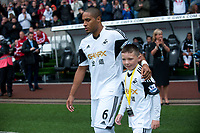 Saturday 17 August 2013<br /> <br /> Pictured: Ashley Williams (Captain)  of Swansea<br /> <br /> Re: Barclays Premier League Swansea City v Manchester United at the Liberty Stadium, Swansea, Wales
