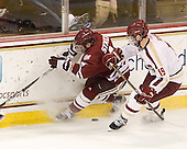 T.J. Syner (UMass - 14), Chris Kreider (BC - 19) - The Boston College Eagles defeated the University of Massachusetts-Amherst Minutemen 3-2 to take their Hockey East Quarterfinal matchup in two games on Saturday, March 10, 2012, at Kelley Rink in Conte Forum in Chestnut Hill, Massachusetts.