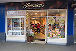 Thorntons chocolatier sweet shop in central business district of Swindon, England