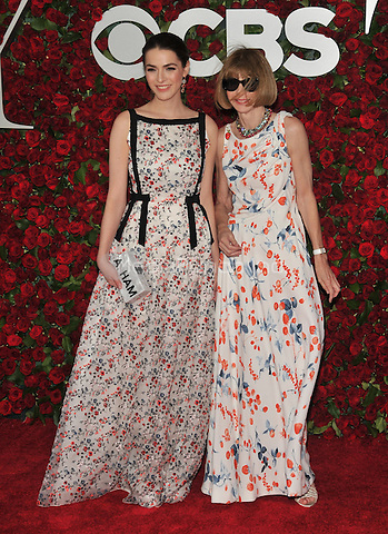 NEW YORK, NY - JUNE 12: Anna Wintour and Bee Shaffer at the 70th Annual Tony Awards at The Beacon Theatre on June 12, 2016 in New York City. Credit: John Palmer/MediaPunch