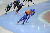 SPEEDSKATING: SALT LAKE CITY: 08-12-2017, Utah Olympic Oval, ISU World Cup, Mass Start Men, Simon Schouten (NED), ©photo Martin de Jong