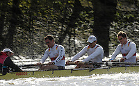 Putney. GREAT BRITAIN,  right to left,  Jan  TREBRUEGGE, Phillip STUEER, stroke, Bernd  HEIDICKER, cox. Peter  THIEBE. during the Cambridge University  vs German National Eight race,  raced over the Boat Race Course, on the River Thames, London, on Sat.  03.03.2007,  [Photo Peter Spurrier/Intersport Images]  [Mandatory Credit, Peter Spurier/ Intersport Images]. , Rowing Course: River Thames, Championship course, Putney to Mortlake 4.25 Miles, , Varsity Boat Race.