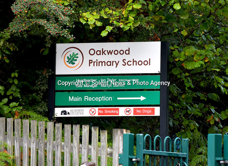 Pictured:  Oakwood Primary School, Southampton.<br /> <br /> Little Miles Povey and his new kitten are so inseparable that when he started school for the first time his pet came too.  The five-year-old walks to and from school every day accompanied by five month old Rocky.<br /> <br /> The grey and white quarter Persian kitten even joins him in classes and has become a firm favourite with Miles' school pals.  Miles joined reception at Oakwood Primary School in Southampton, Hants, last month.  SEE OUR COPY FOR DETAILS.<br /> <br /> © Roger Arbon/Solent News & Photo Agency<br /> UK +44 (0) 2380 458800