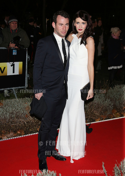 Mark Cavendish and Peta Todd arriving for the Night of Heroes: The Sun Military Awards 2012 held at the Imperial War Museum, london, 06/12/2012 Picture by: Henry Harris / Featureflash