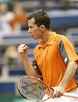 25-2-06, Netherlands, tennis, Rotterdam, ABNAMROWTT, Radek Stepanek reacts after scoring  against Nikolay Davydenko