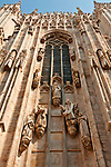 Duomo (Cathedral) facade window and statues