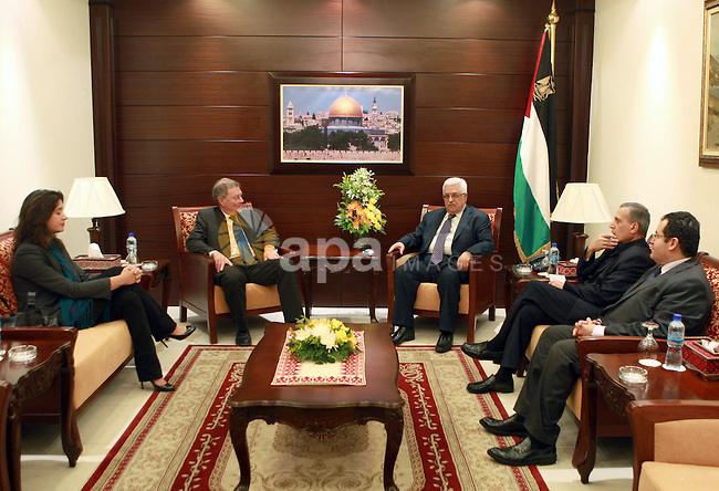 Palestinian President, Mahmoud Abbas (Abu Mazen)  meets with Robert Serry, in the West Bank city of Ramallah, on 29 June 2012. Photo by Thaer Ganaim