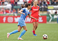 Portland, OR - Saturday April 29, 2017: Christen Press during a regular season National Women's Soccer League (NWSL) match between the Portland Thorns FC and the Chicago Red Stars at Providence Park.