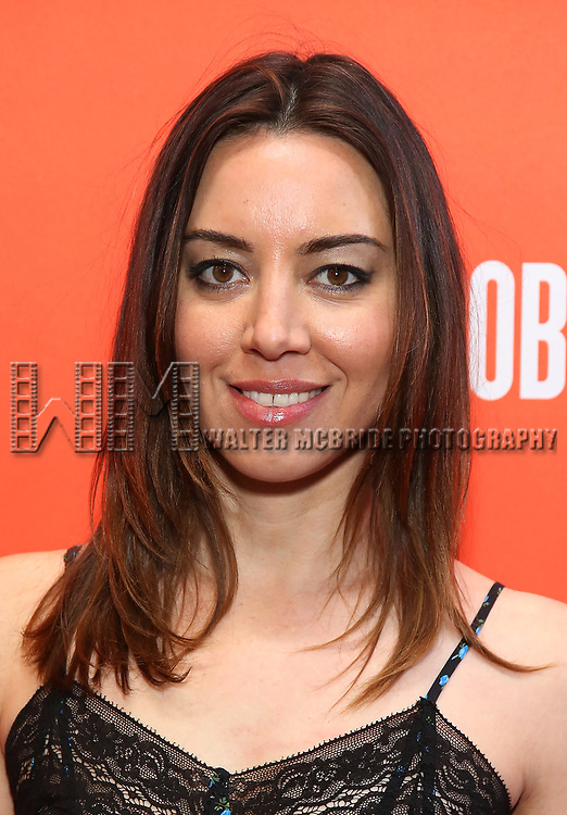"Aubrey Plaza attending the Broadway Opening Night Performance of  ""Lobby Hero"" at The Hayes Theatre on March 26, 2018 in New York City."