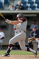 Brandon Wood #8 of the Texas A&M Aggies bats against the Pepperdine Waves at Eddy D. Field Stadium on March 23, 2012 in Malibu,California. Texas A&M defeated Pepperdine 4-0.(Larry Goren/Four Seam Images)