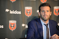 Washington, D.C.- September 22, 2014.  D.C. United presenting a multi-year contract extension for Heach Coach Ben Olsen, at RFK Stadium.