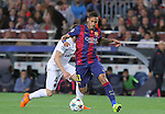 21.04.2015 Barceloona. UEFA Champions League, Quarter-finals 2nd leg. Picture show Neymar Jr in action during game between FC Barcelona against Paris Saint-Germain at Camp Nou
