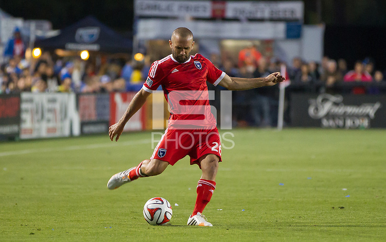 Santa Clara, California - May 7, 2014: The San Jose Earthquakes face off against FC Dallas at Buck Shaw Stadium on Saturday.