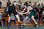 Manhattan Beach, CA 01/29/10 - In the 103 lbs. category Mira Costa's Brett Bucksterff wrestled Brendan Johnson of Peninsula.  Peninsula defeated Mira Costa 49-15.