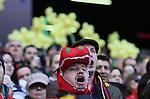 A Welsh fan sings his national anthem - RBS 6Nations 2015 - Scotland  vs Wales - BT Murrayfield Stadium - Edinburgh - Scotland - 15th February 2015 - Picture Simon Bellis/Sportimage