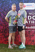 Rob Deering and Paul Tonkinson<br /> at the start of the London Marathon 2019, Greenwich, London<br /> <br /> ©Ash Knotek  D3496  28/04/2019