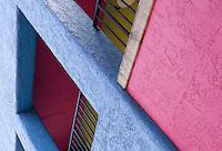 Brightly colored walls in La Placitas Village.