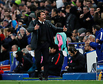 Antonio Conte manager of Chelsea celebrates the equalising goal during the Champions League Group C match at the Stamford Bridge, London. Picture date: December 5th 2017. Picture credit should read: David Klein/Sportimage