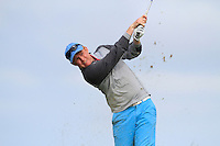 Eanna Griffin (Waterford) on the 16th tee during Round 3 of The South of Ireland in Lahinch Golf Club on Monday 28th July 2014.<br /> Picture:  Thos Caffrey / www.golffile.ie
