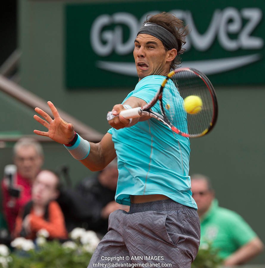 RAFAEL NADAL (ESP)<br /> Tennis - French Open 2014 -  Toland Garros - Paris -  ATP-WTA - ITF - 2014  - France - <br /> 2nd June 2014. <br /> <br /> &copy; AMN IMAGES