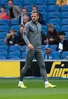 Tottenham Hotspur's Harry Kane during the pre-match warm-up <br /> <br /> Photographer David Horton/CameraSport<br /> <br /> The Premier League - Brighton and Hove Albion v Tottenham Hotspur - Saturday 5th October 2019 - The Amex Stadium - Brighton<br /> <br /> World Copyright © 2019 CameraSport. All rights reserved. 43 Linden Ave. Countesthorpe. Leicester. England. LE8 5PG - Tel: +44 (0) 116 277 4147 - admin@camerasport.com - www.camerasport.com