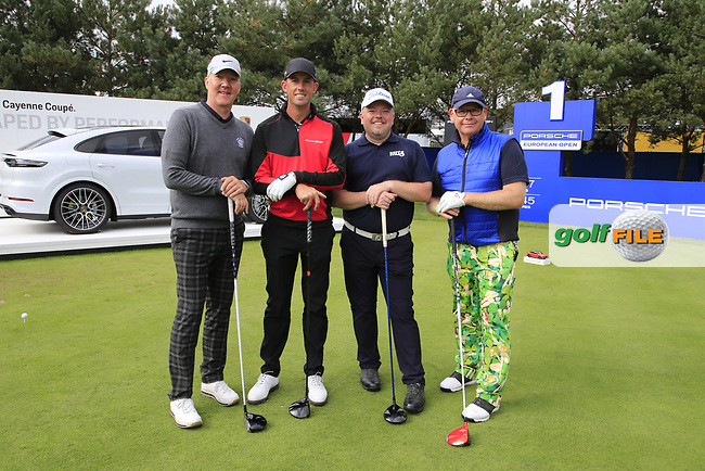 Alexander Bjork (SWE) team during the Pro-Am at the  Porsche European Open, Green Eagles Golf Club, Luhdorf, Winsen, Germany. 04/09/2019.<br /> Picture Fran Caffrey / Golffile.ie<br /> <br /> All photo usage must carry mandatory copyright credit (© Golffile | Fran Caffrey)