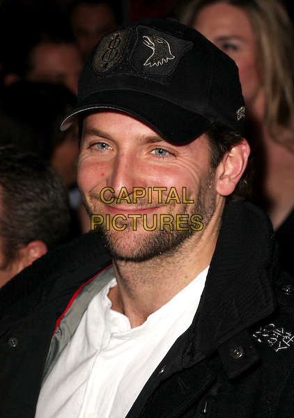 "BRADLEY COOPER .""When In Rome"" Los Angeles Premiere - Arrivals held at The El Capitan Theater, Hollywood, CA, USA, .27th January 2010..portrait headshot  cap hat black white beard stubble facial hair .CAP/ADM/CH.©Charles Harris/AdMedia/Capital Pictures"