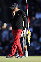 Toru Taniguchi, DECEMBER 4, 2011 - Golf : Toru Taniguchi reacts to missing a par putt on the 18th green during the 48th Golf Nippon Series JT Cup Final Round at Tokyo Yomiuri Country Club, Tokyo, Japan. (Photo by Yusuke Nakanishi/AFLO SPORT) [1090]