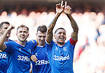 28.09.2018 Rangers v Aberdeen: James Tavernier celebrates his second penalty goal of the match