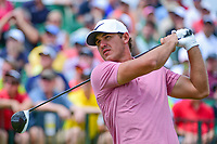 Brooks Koepka (USA) watches his tee shot on 1 during Saturday's round 3 of the 117th U.S. Open, at Erin Hills, Erin, Wisconsin. 6/17/2017.<br /> Picture: Golffile | Ken Murray<br /> <br /> <br /> All photo usage must carry mandatory copyright credit (&copy; Golffile | Ken Murray)