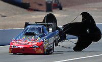 Apr. 13, 2008; Las Vegas, NV, USA: NHRA funny car driver Bob Bode during the SummitRacing.com Nationals at The Strip in Las Vegas. Mandatory Credit: Mark J. Rebilas-