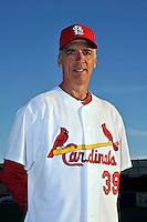 Mar 01, 2010; Jupiter, FL, USA; St. Louis Cardinals coach Dave McKay (39) during  photoday at Roger Dean Stadium. Mandatory Credit: Tomasso De Rosa/ Four Seam Images