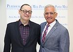 "Michael Stotts and Mark S. Hoebee during the meet the cast photo call for the Paper Mill Playhouse production of  ""Benny & Joon"" at Baza Dance Studios on 3/21/2019 in New York City."