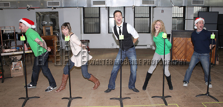 Mark Price, Jill Paice, Justin Guarini, Lauren Molina & Garth Kravits   attending the Rehearsal for the Bucks County Playhouse production of 'It's a Wonderful Life - A Live Radio Play' at their rehearsal studios in New York City on December 5, 2012.