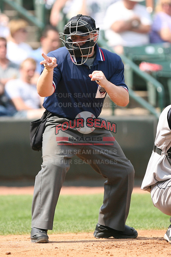 2007 MiLB Umpire Brett Persinger during the International League League season.  Photo by Mike Janes/Four Seam Images