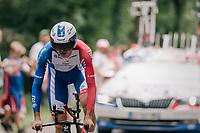 Arthur Vichot (FRA/Groupama-FDJ)<br /> <br /> Stage 20 (ITT): Saint-Pée-sur-Nivelle >  Espelette (31km)<br /> <br /> 105th Tour de France 2018<br /> ©kramon