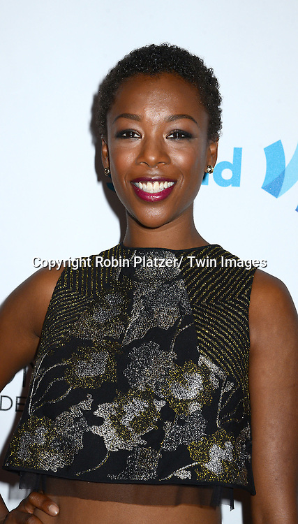 Samira Wiley attends the 25th Annual GLAAD Media Awards at the Waldorf Astoria Hotel in New York City, NY on May 3, 2014.