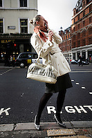 Adriana Paprocka, a broker at an insurance firm in the City of London. The UK went into recession in the final quarter of 2008 as the City was hit hard by the global credit crunch.