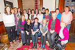Berni Hand from Lispole who is retiring from Kerry General hospital catering department after 26yrs service having a farewell party with all her collegues at the Grand Hotel on Sunday