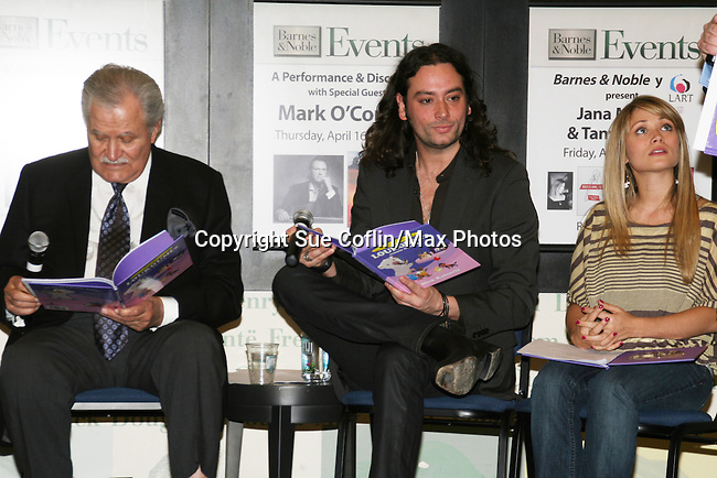 """Days John Aniston and Bold and the Beautiful Constantine Maroulis and GL Marcy Rylan at the booksigning of Loukoumi's """"Good Deeds"""" on April 4, 2009 at Lincoln Square, Barnes & Noble, New York City, NY.  $2 of each book sale will be donated to St. Jude Children's Research Hospital which is in itself, a good deed. (Photo by Sue Coflin/Max Photos)"""