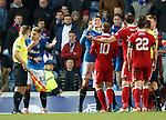 Rob Kiernan wishes farewell to Ryan Jack as the Aberdeen man is about to get sent off