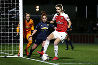 Vivianne Miedema of Arsenal and Martha Harris of Manchester Utd during Arsenal Women vs Manchester United Women, FA WSL Continental Tyres Cup Football at Meadow Park on 7th February 2019
