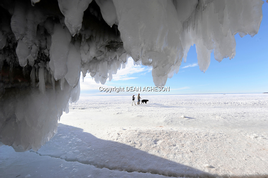 Ice caves on Lake Superior, Bayfield County, Wisconsin.