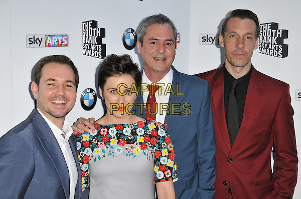 LONDON, ENGLAND - JUNE 07: Martin Compston, Vicky McClure, Neil Morrissey &amp; Craig Parkinson attend the South Bank Sky Arts Awards 2015, The Savoy Hotel, The Strand, on Sunday June 07, 2015 in London, England, UK. <br /> CAP/CAN<br /> &copy;CAN/Capital Pictures